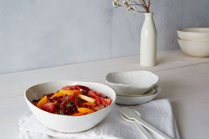 Winter Fruit Salad- Pers-Pears-Pom